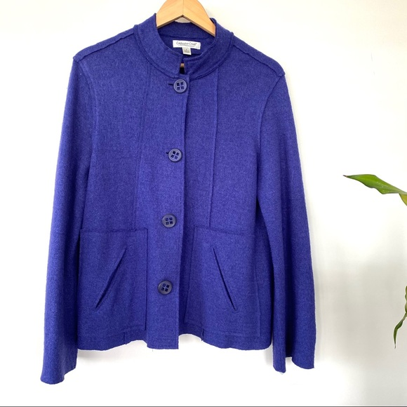 Coldwater Creek felted wool blend jacket